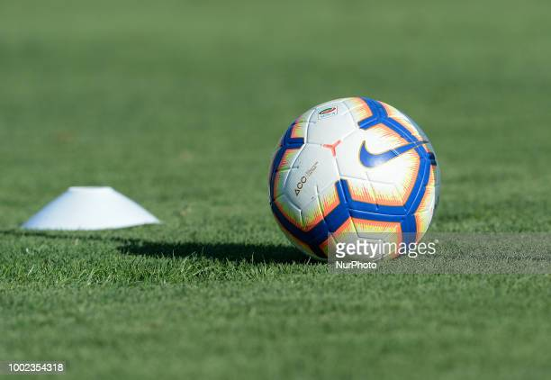 Official ball during training session open to the fans of AS Roma preseason retreat at Stadio Tre Fontane on july 19 2018 in Rome Italy