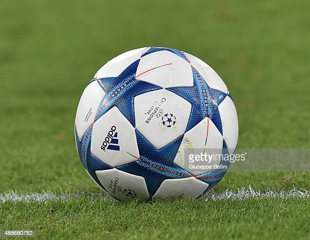 Official Ball of Adidas during the UEFA Champions League Group E match between AS Roma and FC Barcelona at Olimpico Stadium on September 16 2015 in...