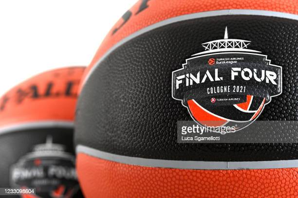 Official ball of Final Four at Lanxess Arena on May 25, 2021 in Cologne, Germany.