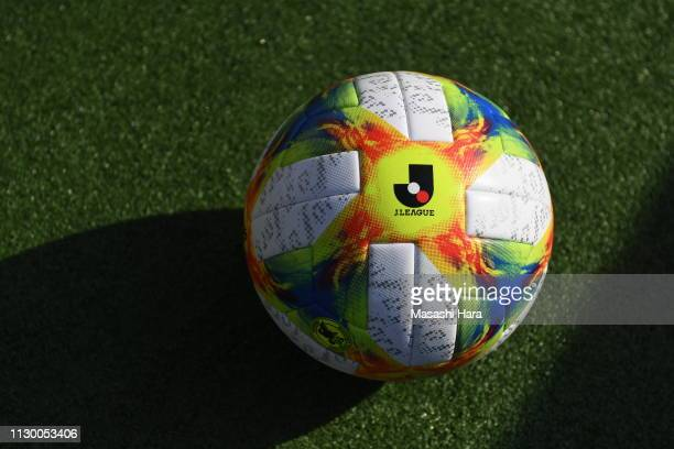 Official ball of JLeague during the Fuji Xerox Super Cup between Kawasaki Frontale and Urawa Red Diamonds at Saitama Stadium on February 16 2019 in...