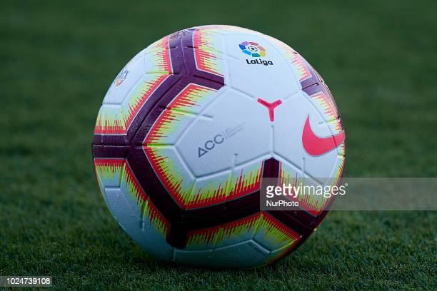 Official ball of La Liga during the La Liga match between Levante and Celta de Vigo at Ciutat de Valencia on August 27, 2018 in Valencia, Spain