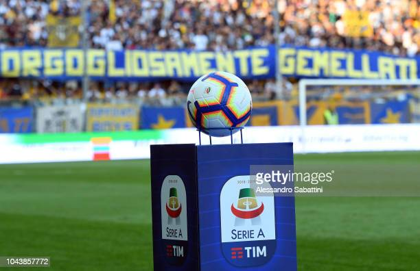 Official ball of Nike prior the Serie A match between Parma Calcio and Empoli at Stadio Ennio Tardini on September 30, 2018 in Parma, Italy.