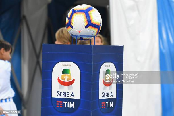 Official ball of Nike prior the Serie A match between SPAL and US Sassuolo at Stadio Paolo Mazza on September 27 2018 in Ferrara Italy
