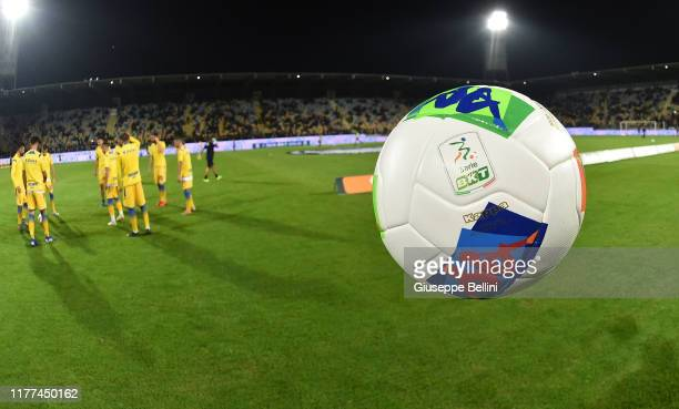 Official ball of Robe di Kappa prior the Serie B match between Frosinone Calcio and AS Livorno at Stadio Benito Stirpe on October 21, 2019 in...