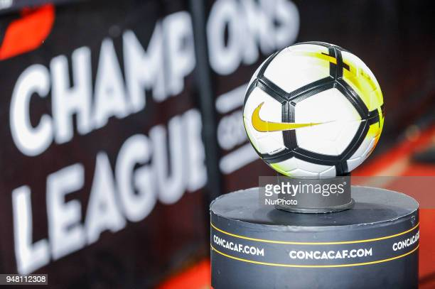 Official ball of the 2018 CONCACAF Champions League in Toronto Canada on April 17 2018