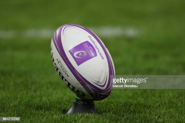 Official Ball of the Challenge Cup during the European Challenge Cup match between Stade Toulousain and Cardiff Blues at Stade Ernest Wallon on...