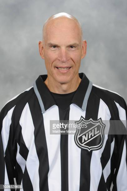 Official Brian Murphy poses for his official headshot for the 20182019 season on September 11 2018 at the HarborCenter in Buffalo New York United...