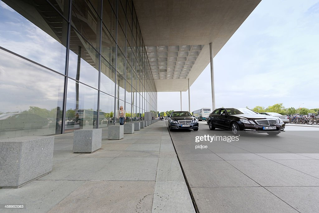 Official Cars In Front Of Paul Loebe Haus Berlin Germany Stock Photo