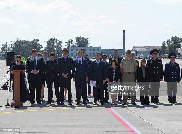Official ceremony is organized in Kharkov Airport and 20 funeral of Dutch passengers who died on plane crash in Ukraine sent to Netherlands Kharkov...