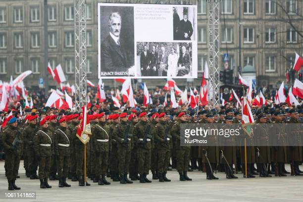 Official ceremony marking 100 years of Polish independence. Warsaw, Poland on 11 November, 2018. On 11th November Poland regained its independence...