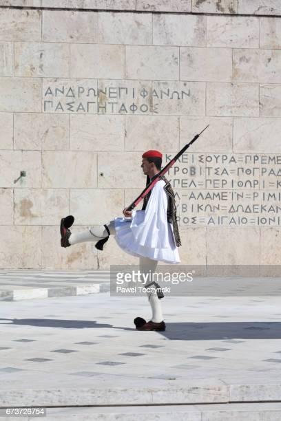 Official Changing of the Guards ceremony in front of the Greek Parliament building, Athens