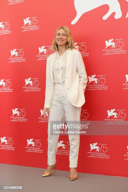 Official Competition jury member Naomi Watts attends the Jury photocall during the 75th Venice Film Festival at Sala Casino on August 29 2018 in...