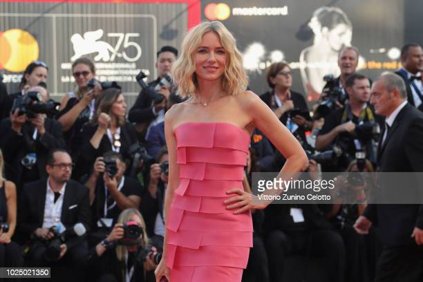 Official Competition jury member Naomi Watts walks the red carpet ahead of the opening ceremony and the 'First Man' screening during the 75th Venice...