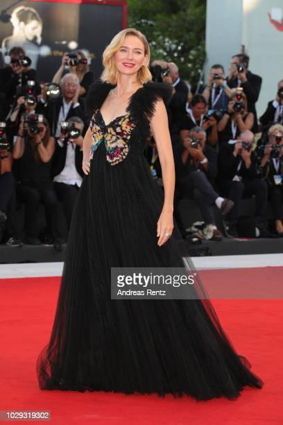 Official Competition jury Member Naomi Watts walks the red carpet ahead of the Award Ceremony during the 75th Venice Film Festival at Sala Grande on...