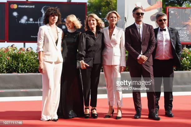 Official competition jury members Paolo Genovese Malgorzata Szumowska Naomi Watts Nicole Garcia Trine Dyrholm and Taika Waititi walk the red carpet...