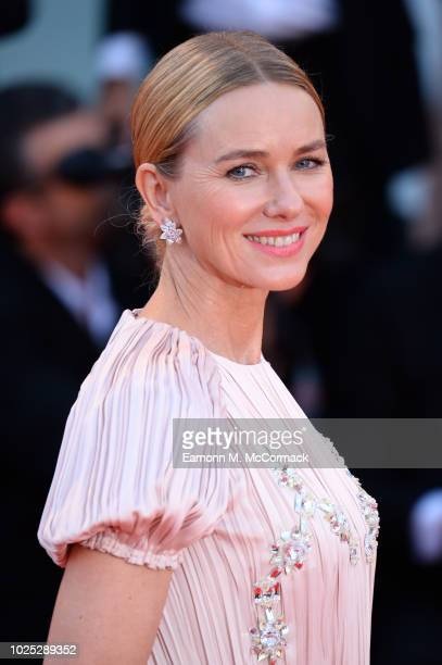 Official Competiton jury member Naomi Watts walks the red carpet ahead of the 'Roma' screening during the 75th Venice Film Festival at Sala Grande on...