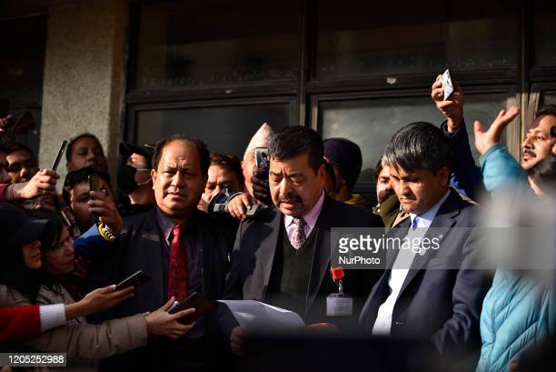 Official Doctors speak in a press meet after successful second time Kidney transplant of Prime Minister KP Sharma Oli at Tribhuwan University...