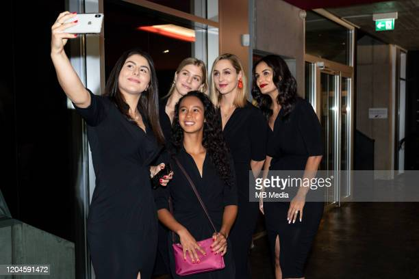 Official Evening Bianca Andreescu takes a selfie of her teammates Leylah Annie Fernandez Eugenie Bouchard Gabriela Dabrowski Captain Heidi El Tabakh...