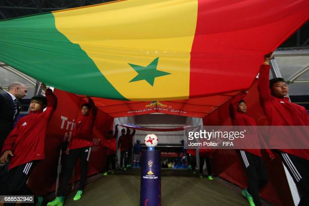 Official flags before the FIFA U20 World Cup Korea Republic 2017 group F match between Senegal and USA at Incheon Munhak Stadium on May 25 2017 in...