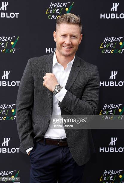 Official Hublot Ambassador Michael Clarke arrives at the Sydney Cricket Ground on November 20 2017 in Sydney Australia