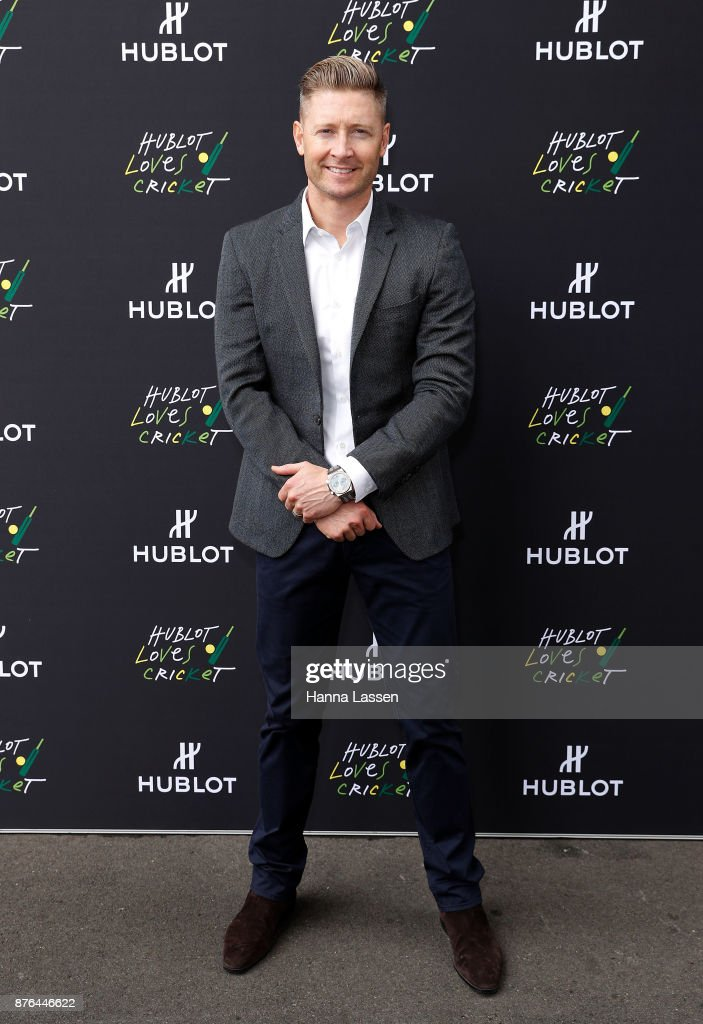 Official Hublot Ambassador Michael Clarke arrives at the Sydney Cricket Ground on November 20, 2017 in Sydney, Australia.