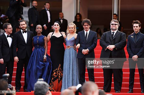 Official Jury Members Ethan Coen Jake Gyllenhaal Rokia Traore Rossy de Palma Sienna Miller Joel Coen Guillermo del Toro and Xavier Dolan attend the...