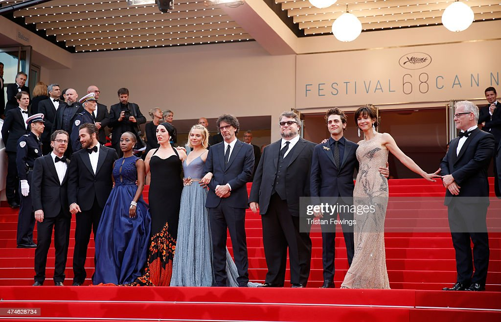 Official Jury Members Ethan Coen, Jake Gyllenhaal, Rokia Traore, Rossy de Palma, Sienna Miller, Joel Coen,Guillermo del Toro, Xavier Dolan,Sophie Marceau and Thierry Fremaux attend the closing ceremony and Premiere of 'La Glace Et Le Ciel' ('Ice And The Sky') during the 68th annual Cannes Film Festival on May 24, 2015 in Cannes, France.