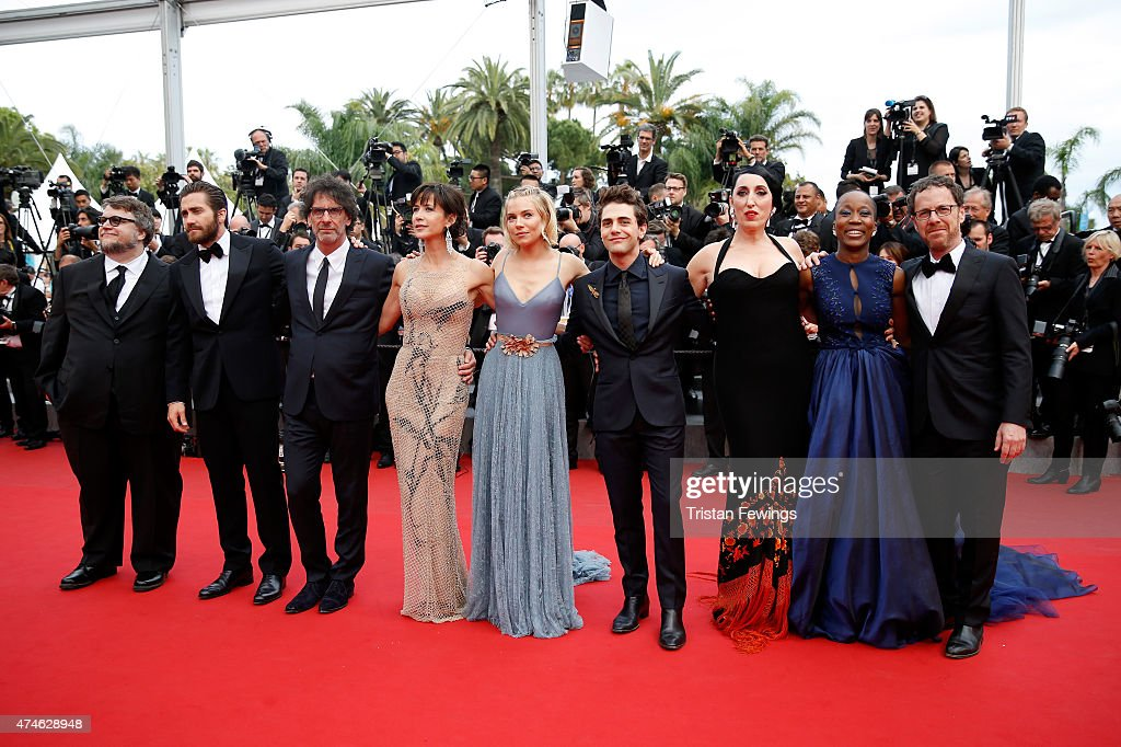 Official Jury Members Guillermo del Toro, Jake Gyllenhaal, Joel Coen, Sophie Marceau, Sienna Miller, Xavier Dolan, Rossy de Palma, rokia Traore and Ethan Coen attend the closing ceremony and Premiere of 'La Glace Et Le Ciel' ('Ice And The Sky') during the 68th annual Cannes Film Festival on May 24, 2015 in Cannes, France.