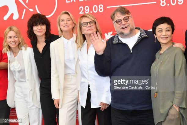 Official Jury members Naomi Watts Malgorzata Szumowska Trine Dyrholm Nicole Garcia president of the jury Guillermo Del Toro and jury member Sylvia...