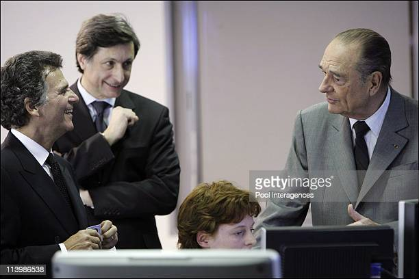 Official Launch of 'France 24' the french international 24h news channel in Paris France On December 06 2006France's President Jacques Chirac Alain...