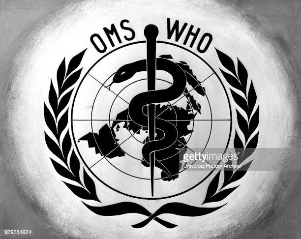 Official logo for the World Health Organisation a specialised agency of the United Nations Dated 20th Century