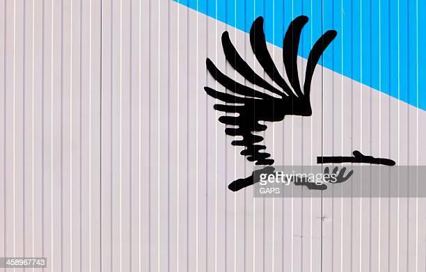 logotipo oficial de haia - haia sul da holanda - fotografias e filmes do acervo