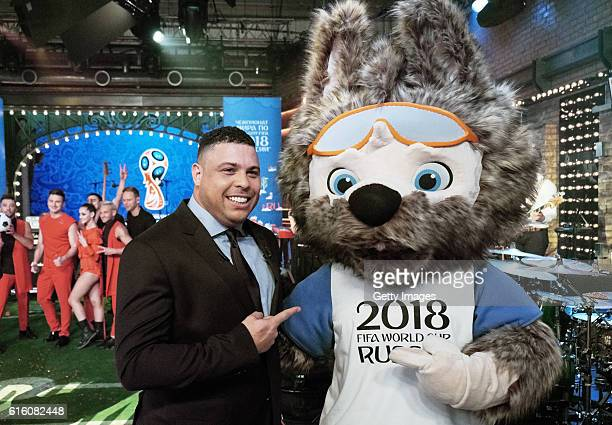 Official Mascot Wolf was chosen as Official Mascot of FIFA 2018 World Cup Russia and Nazario Ronaldo during 'Vecherniy Urgant' TV show on Channel 1...
