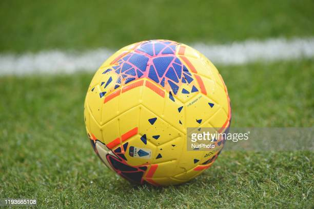 Official Match Ball during the Tim Cup match between SSC Napoli and AC Perugia at Stadio San Paolo Naples Italy on 14 January 2020