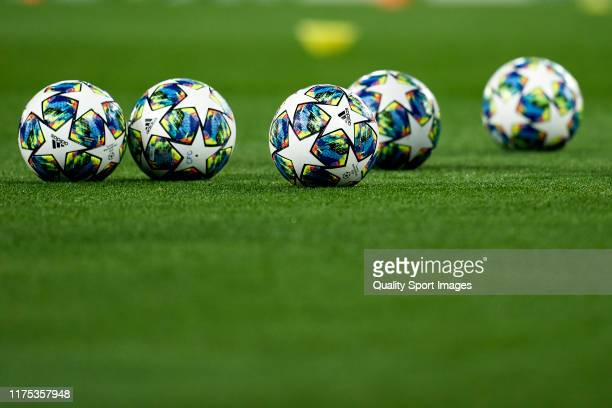 Official match ball of the UEFA Champions League group H match between Chelsea FC and Valencia CF at Stamford Bridge on September 17 2019 in London...