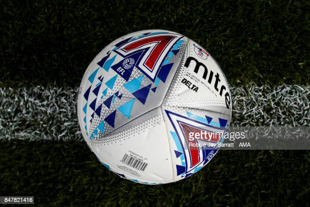 Official Mitre Delta Sky Bet League One match ball during the Sky Bet League One match between Oldham Athletic and Shrewsbury Town at Boundary Park...