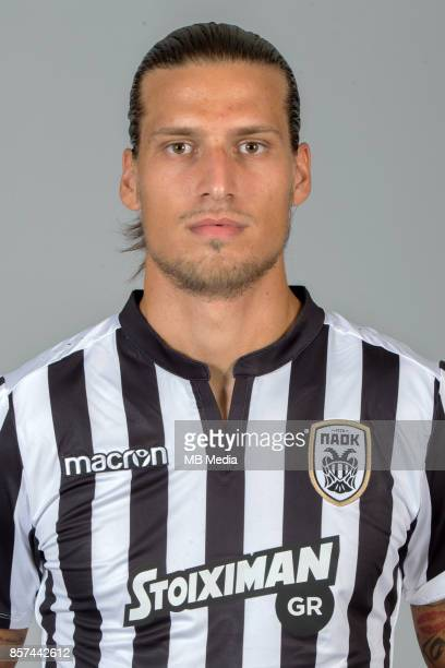 Official photo shooting of PAOK FC Aleksandar Prijovic forward portrait