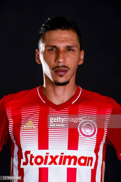 Official photoshoot of Olympiacos FC 2020-21, portraits Jose Holebas, Defender, on September 16,2020 in Greece.