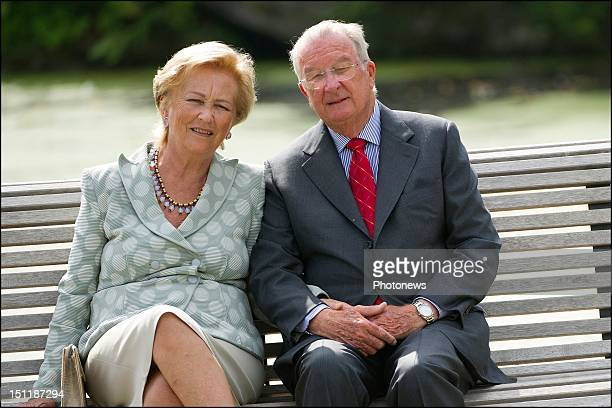 Official photoshoot of the Belgian Royal Family King Albert II and Queen Paola pictured during the official photoshoot of the Belgian Family on...
