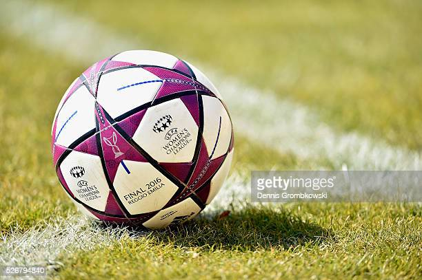 Official play ball is seen during the UEFA Women's Champions League Semi Final second leg match between 1 FFC Frankfurt and VfL Wolfsburg at Stadion...