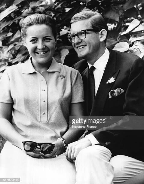 Official Portrait for the announcement of the wedding of Princess Margriet with Pieter van Vollenhoven on November 30 1966 in the Netherlands