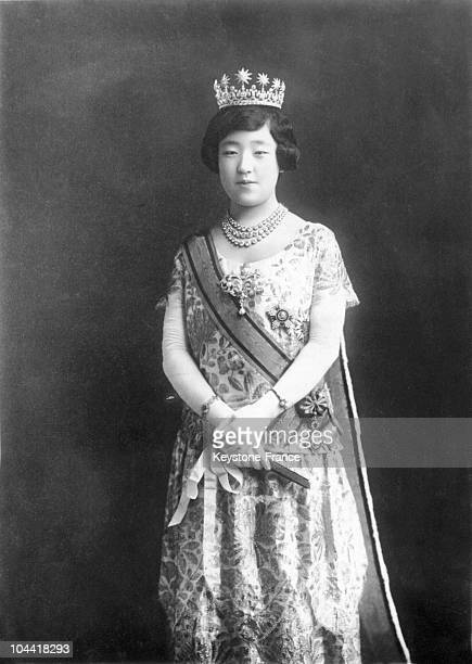 Official portrait in the 1930's of Empress NAGAKO, wife of Emperor HIROHITO.