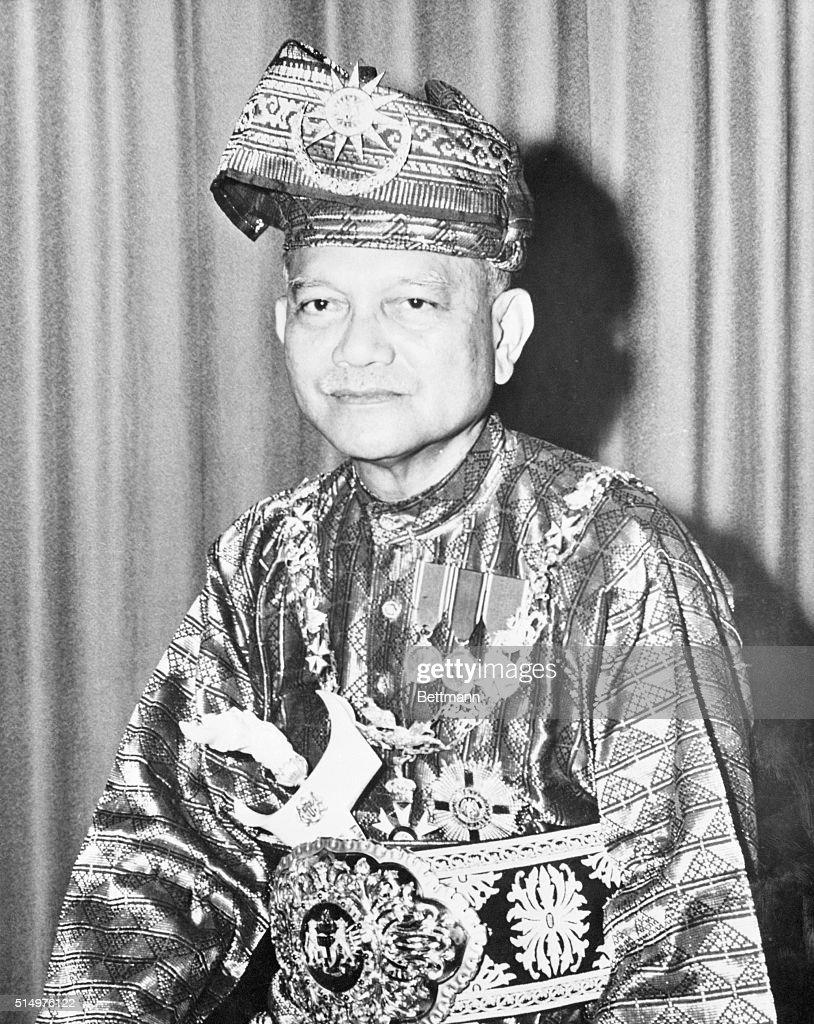 Official Portrait Of Malaysias Paramount Ruler Tuanku Abdul Rahman In Court Dress And Regalia