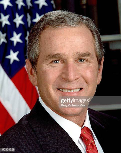 Official portrait of President George W Bush taken by Eric Draper of the White House