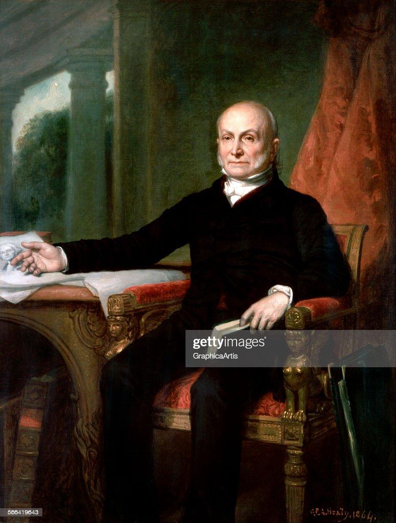John Quincy Adams By Healy : News Photo