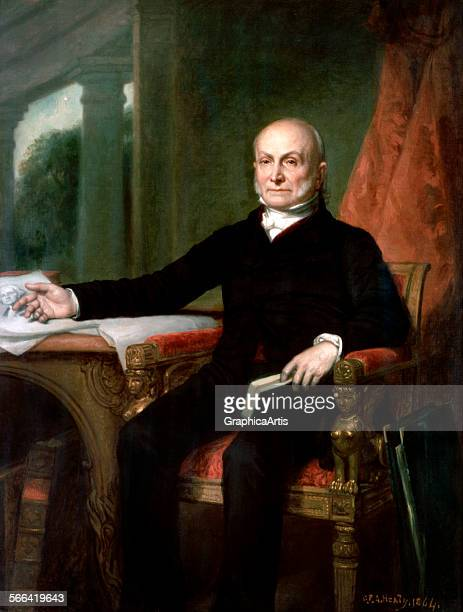 Official portrait of President John Quincy Adams by George PA Healy oil on canvas 1858 From the White House collection Washington DC