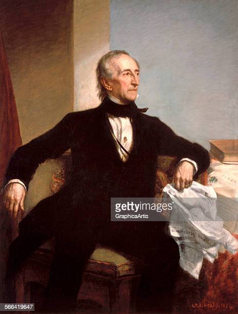 Official portrait of President John Tyler by George PA Healy oil on canvas 1859 From the White House collection Washington DC
