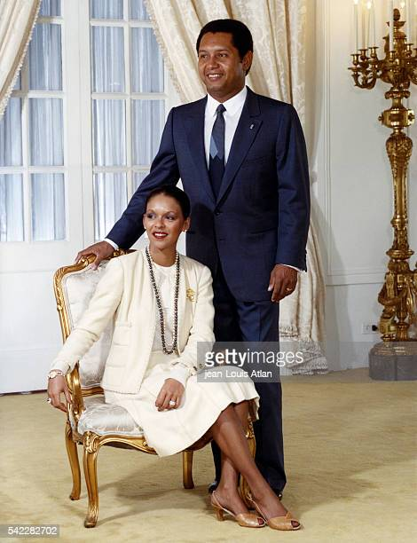 Official portrait of President of Haiti Jean-Claude Duvalier and his wife Michèle Bennett Pasquet.