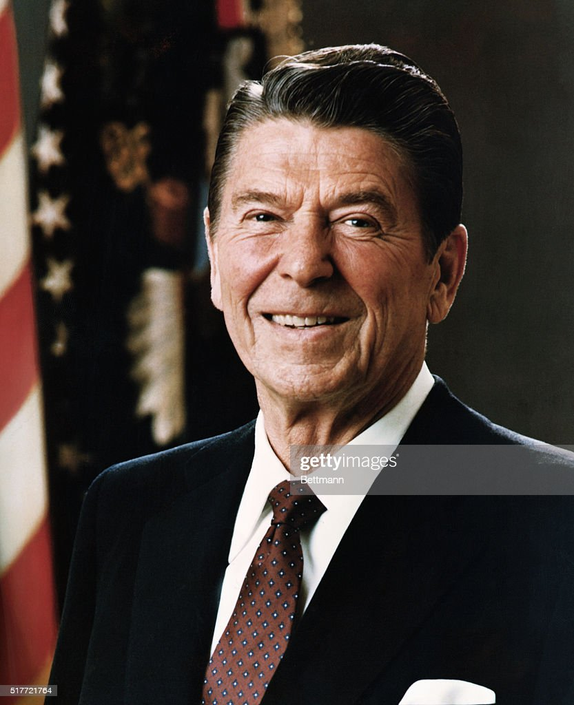 3/1981- Official portrait of President Ronald Reagan.