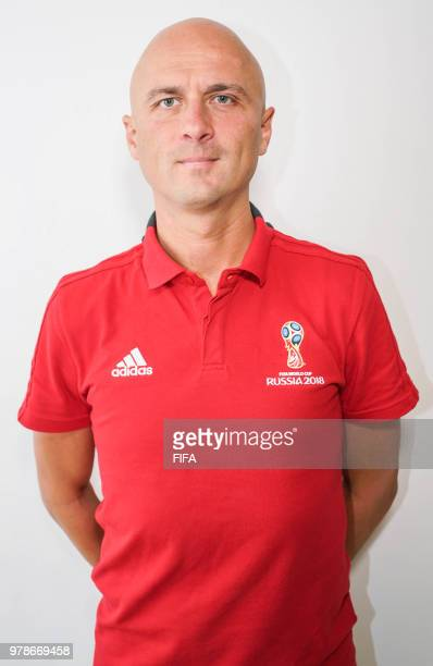 Official Portrait of Sergei Karasev from Russia for the FIFA World Cup Russia 2018 on April 19 2018 in Russia